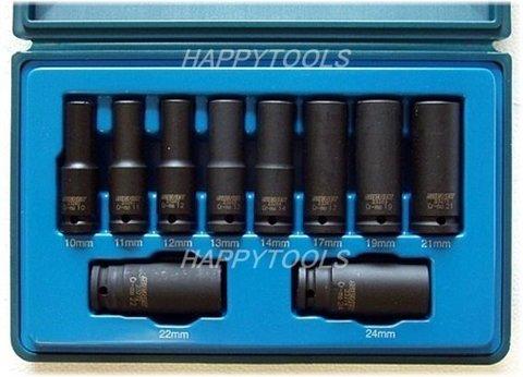 """シグネット(SIGNET) #23291 ディープインパクトソケットセット 1/2""""DR(12.7mm) 6角 ミリサイズ 10PC 即日出荷 税込特価"""
