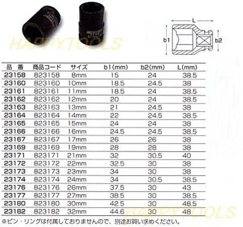 """シグネット(SIGNET) #23192 インパクトソケットレンチセット14個組 1/2""""(12.7mm)sq 6ポイント ミリサイズ 即日出荷 税込特価"""