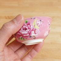 茶杯 客家花布(ピンク)