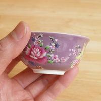 茶杯 客家花布(紫)