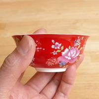 茶杯 客家花布(赤)