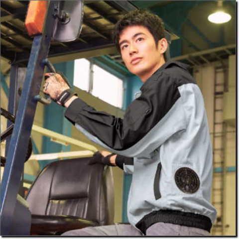 KU91920綿厚手脇下マチ付き空調服™
