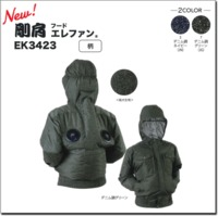 EK3423 NEW 剛肩フードエレファン(デニム調)