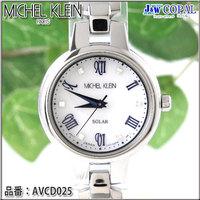 ミッシェルクラン・レディース腕時計AVCD025【ホワイト】<ソーラーウォッチ>