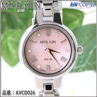 ミッシェルクラン・レディース腕時計AVCD026【ピンク】<ソーラーウォッチ>