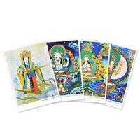 越智啓子先生オリジナルポストカード・仏画シリーズ(4枚組)
