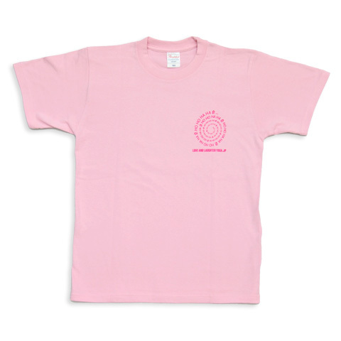 愛と笑いヨガジャパンTシャツ ピーチ