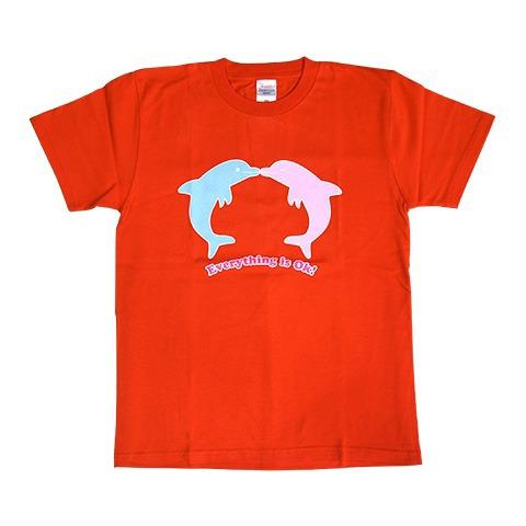 海の舞Tシャツ(オレンジ)イルカKiss