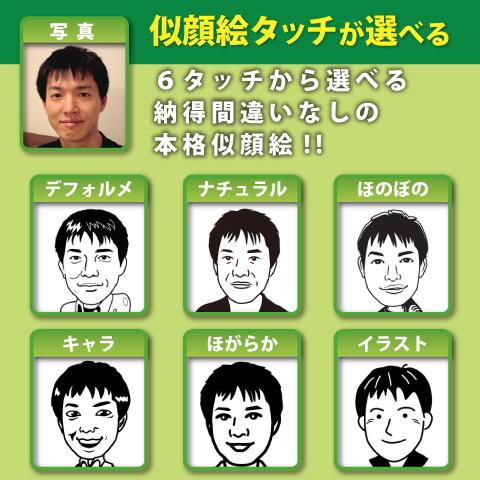似顔絵タッチをお選びください。