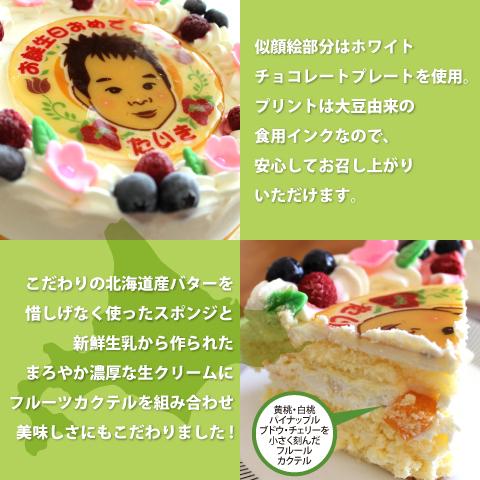 似顔絵ケーキの仕様