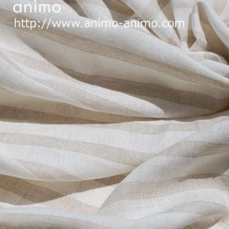 1m単位【感謝祭価格】広巾 リネンボーダー柄 1