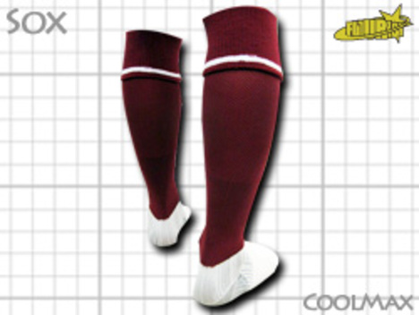 CoolMAX採用 コンプレッションソックス ワイン S or M or Lサイズ
