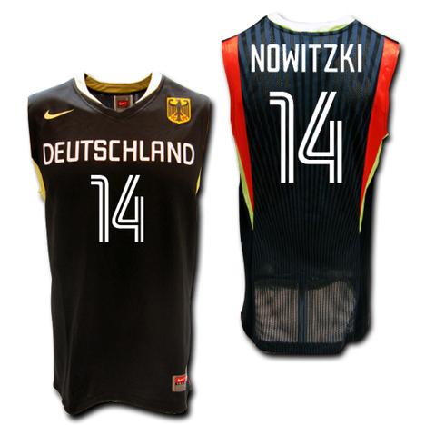 バスケ・ドイツ代表 14番:ダーク・ノビツキー Away(黒) NIKE