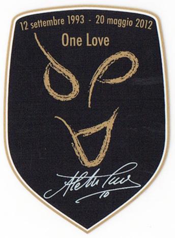 11/12 ユベントス デルピエロ One Loveパッチ (選手支給品)