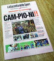 イタリア代表 優勝翌日の新聞