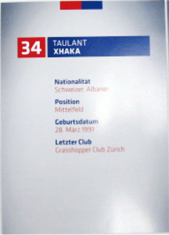 FCバーゼル オートグラフカード