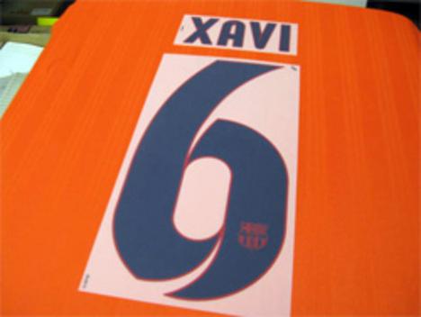 12/13、13/14シーズン FCバルセロナ アウェイ用オフィシャルナンバー