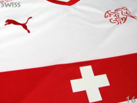 2016 スイス代表 アウェイ(白/赤) プーマ製