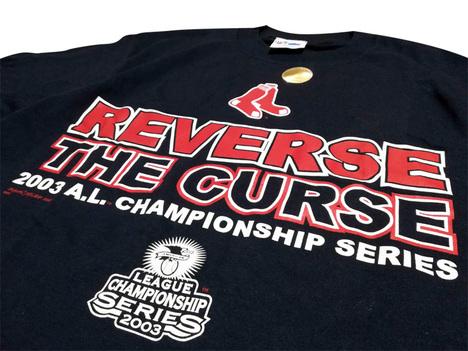 2003 レッドソックス 【Reverse the curse=呪いを解け】 Tシャツ