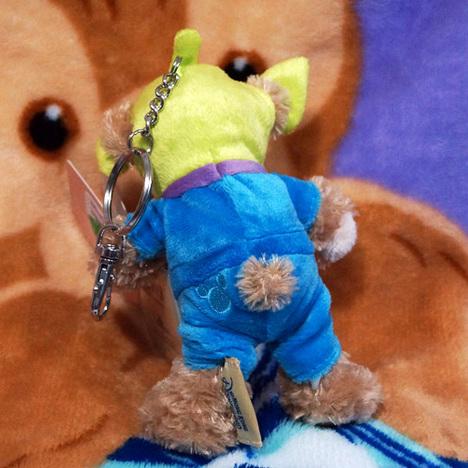 ダッフィー 【リトルグリーンメン】ぬいぐるみキーチェーン (ぬいばサイズ) 香港ディズニー限定