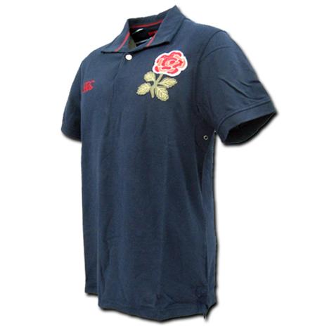 ラグビーイングランド代表 ポロシャツ(濃紺) CANTERBURY製