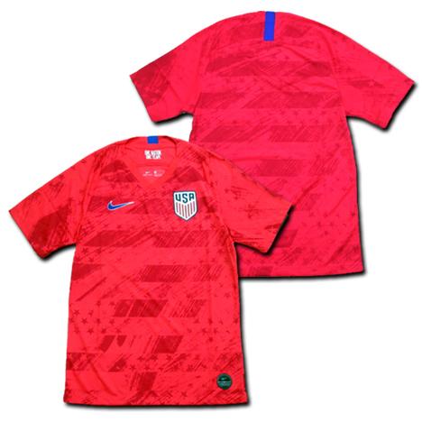 2019女子W杯用 USA=アメリカ代表 Away(赤=星条旗) NIKE (男性サイズ)
