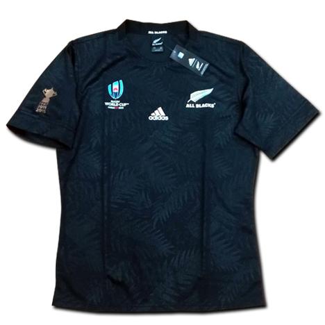 【ナンバー無料!】ラグビー・ニュージーランド代表・オールブラックス ラグビーワールドカップ2019 ホーム(黒) adidas