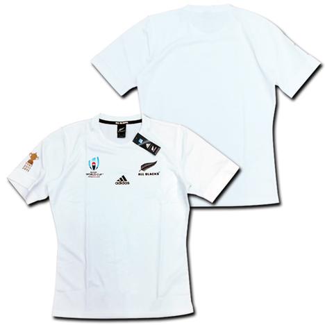 【ナンバー無料!】ラグビー・ニュージーランド代表・オールブラックス ラグビーワールドカップ2019 アウェイ(白) adidas