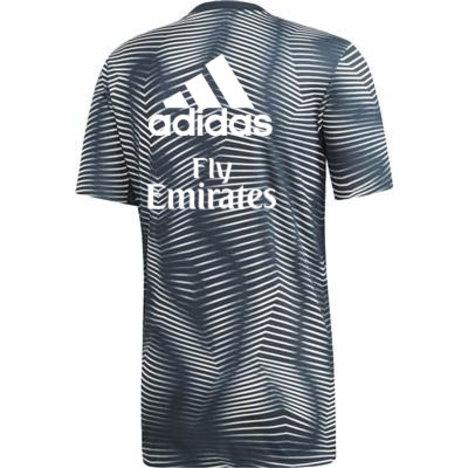 【50%OFF】 レアルマドリード 18/19 ホーム・プレマッチユニ (グレー) adidas