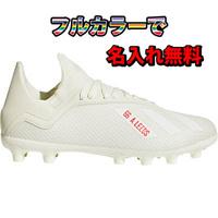 【名入れ無料】 【50%OFF】 アディダス・エックス 18.3HG/AGJ(オフホワイト) 固い土・人工芝用 adidas 【ジュニアサイズ】