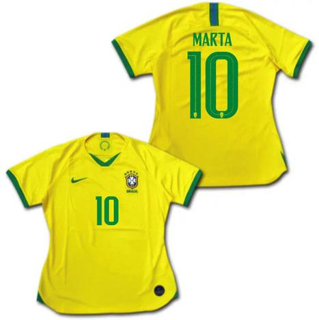 【4着セール対象】 2019 ブラジル代表 ホーム(黄色) 女性用 NIKE製