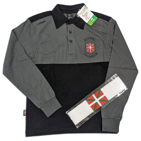 【送料無料】 バスク選抜 長袖ポロシャツ +キャプテンマーク ASTORE