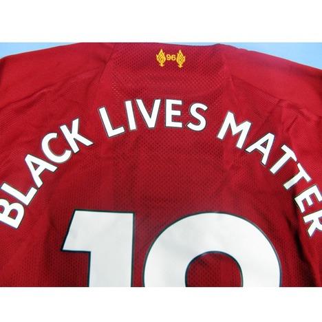 """【プレミアチャンプパッチ付】19/20 リバプール Home (赤) """"BLACK LIVES MATTER"""" #18 南野選手 ニューバランス製"""