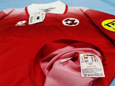 【ネームナンバー無料】ユーロ1996 スイス代表 ホーム(赤) Lotto Italy製 【送料無料】
