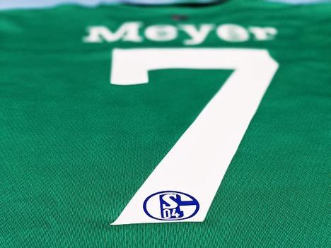 【送料無料】 13/15 シャルケ04・サード(緑) #7 Meyer 選手用 Formotion仕様・長袖 adidas