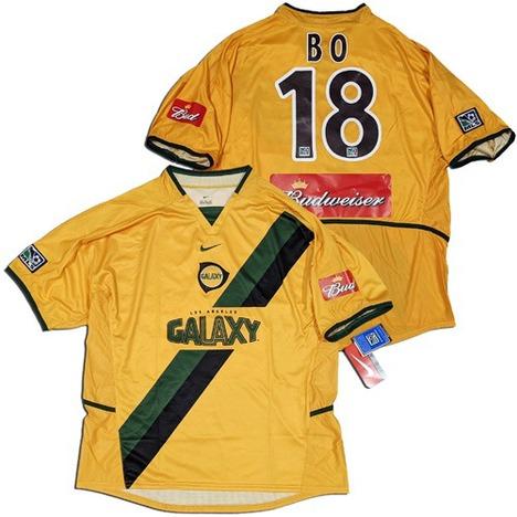 【送料無料】 2004 LAギャラクシー #18 BO ホンミョンボ選手 (洪 明甫 홍명보) Home (黄色) NIKE 【期間限定】