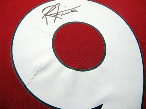 【直筆サイン入り・限定1セット】20/21 リバプール #9 フィルミーノ選手 ホーム(赤) 【送料無料】