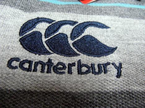 ラグビー・アイルランド代表 ボーダーポロシャツ(グレー) CANTERBURY