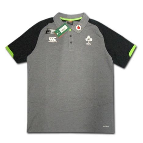 ラグビー・アイルランド代表 トレーニングポロシャツ(グレー/黒) CANTERBURY