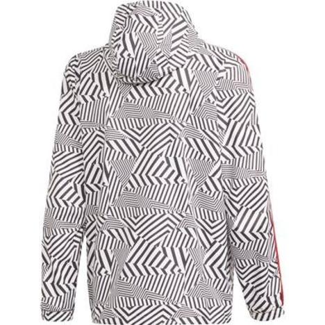 【47%OFF】 マンチェスターユナイテッド 20-21 ウィンドブレーカー(ホワイト×ブラック) adidas 【メール便送料無料】