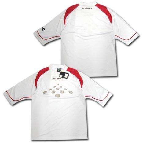 DIADORA GKシャツ(白) 七分袖 ディアドラ 【在庫の限り】