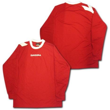 DIADORA GKシャツ(赤) 長袖 ディアドラ 【在庫の限り】