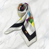 カタカムナ スカーフ/カタカムナ・デロスの神託 88×88cm