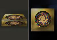 クリスタルクスリエ カタカムナゴールデンドラゴン/75×75×20mm