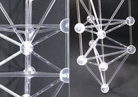 模型 バッキーボール(組立済)+3Dカバラ パドマ