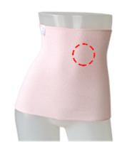 ユニカオリジナルエンバランス腹巻き/クスリエオーダーワンポイント印刷/2色/M・L
