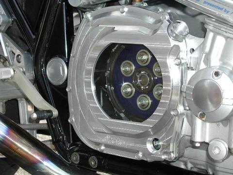 GSGモトテクニック 04-' XJR1300用 スケルトンクラッチカバ―