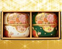 缶2本セット ・茶缶(白・緑) 80g×2缶