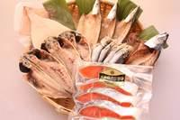 氷見堀与地魚一夜干5種 と天然紅鮭セット