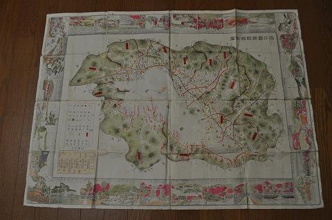明治 地図 絵図 彩色細密銅版『近江国新町村全図』滋賀